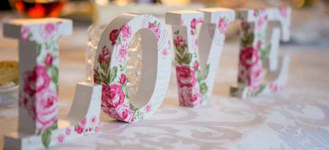 letters spelling out the word love